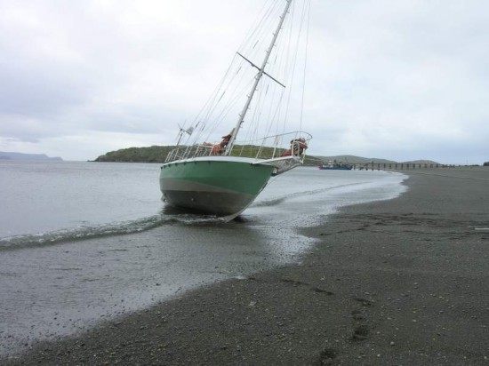 Elsi beached at Caletta Lennox.