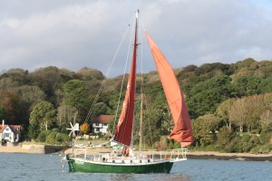 Andrew and Elsi leaving Falmouth