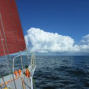 A fine day in the Roaring Forties at 46 S.