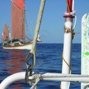 330 miles off the Portuguese coast we met Swyn-y Mor in a bizarre chance encounter. We had last met in Aden in 1993.