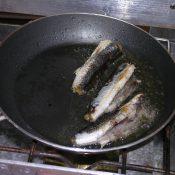 Flying fish frying