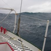Once we left the SE trades and went deeper into the South Atlantic the weather was a lot rougher.