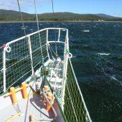 At anchor in Caletta Lennox