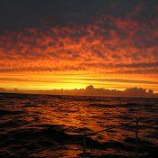 Good sunset just south of Rio de Janeiro